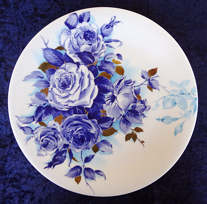 Plate with blue flowers
